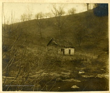 "Information included with the photograph, ""This is the old home on Scott's Run where your father grew up."" Stumptown is located at the junction of Scott's Run and Wade's Run."
