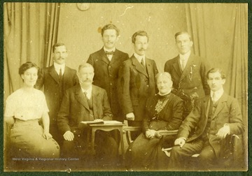Left to right: Hedwig, Paul, Robert Sr., Alwin, Robert, Pauline Zwicker, Herman, Max.