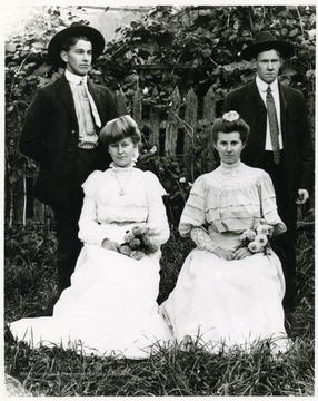 Left to right, front to back: Leonard, Mathias, Julia, and Anna.