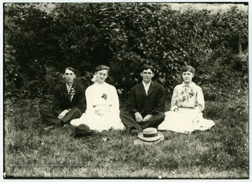 Left to right: John Gimmel, Mary Huber, Oscar Malcomb, Fanny Huppertz.