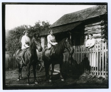 Left to right: Verena and Mary Metzener on horseback. Julia Burky.