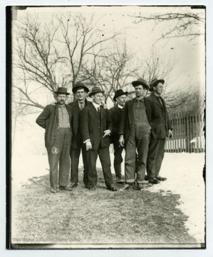 Left to Right: George Anderegg Jr., Oscar Malcomb, Herman Schneider, Ernest Hassig, Otto Betler, Louis Haslebacher.
