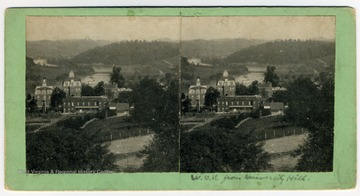 Note the steamboat on the Monongahela River below Woodburn Circle.