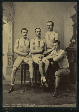 Pictured: Andrews, stroke; Gibson, No. 3; Thom, No. 2, Carter, Bow; and John Redwood, Coxswain