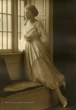 Frances Davenport Packette, probably in her teens, wearing semi-formal attire.