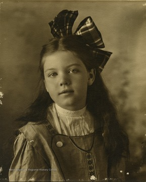 Frances Davenport Packette as a young girl, photograph taken in Atlantic City, New Jersey
