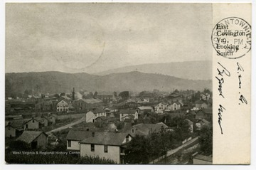 Postcard print of East Covington, Allegheny County, Virginia, bordering Greenbrier County, West Virginia.