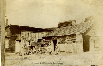 This shop was located on the corner of Front and Walnut Streets.