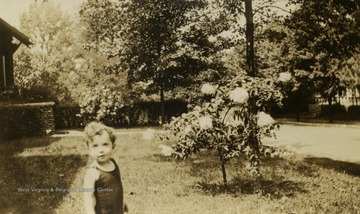 The little boy is the son of George M. and Margaret Mathers Barrick Sr.