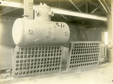 Header With Drum attached for Ward Water-tube boiler. Created by Charles Ward Engineering Works in Charleston, West Virginia.