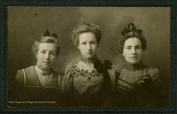 Left to Right: Besse Belle Lazzell Ridgeway; Blanche Lazzell; Myrtle Matilda Lazzell Reed
