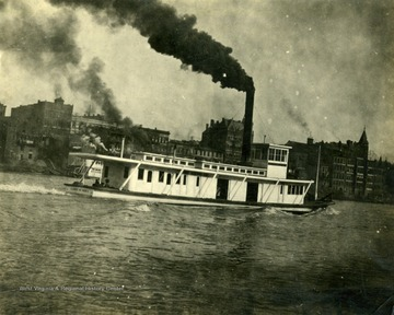 "Towboat ""James Rumsey"" built by The Charles Ward Engineering Works in Charleston, West Virginia."