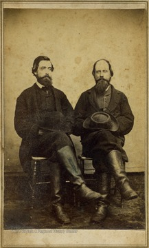 "The two men in this carte de visite, were also known as ""Uncle Norman "" and Uncle Din""."