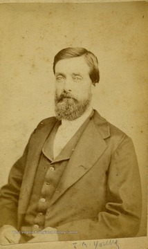 A carte de visite of a well dressed J. M. Young.