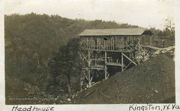 A long, steep conveyor line use to move coal from the mines and down the mountain in Fayette County.