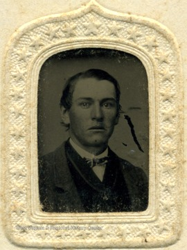 Small tintype portrait of an unidentified young man.