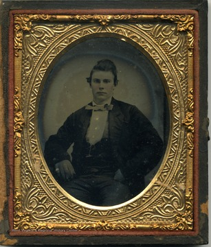 Either an ambrotype or tintype, Pre-Civil War image of a young G. P. Gardener.