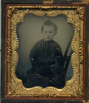 An ambrotype portrait of a small boy, probably the son of G. P. Gardner of Point Pleasant, Mason County.