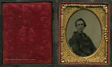 Cased image, possibly a tintype, of an unidentified boy.