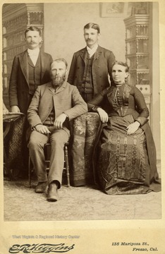 Sarah June Maxwell, and sons Hu(sitting) Frank and Edwin.