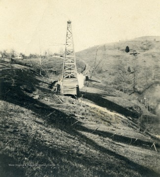 Oil rig on farm.