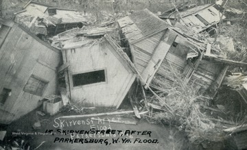 Group of homes that were destroyed by the flood.