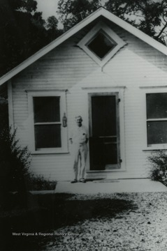 Photo of John Montgomery outside of home in Blacksville area, Monongalia County, West Virginia.