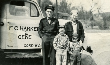 Identified in the photograph: Kenneth Wise, Earl Connor, Gene Harker, Jack Wise