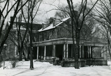 "South and West (Rear) of the structure also known as ""Shepard Hall"". The house was built in 1798 by Moses Shepard."