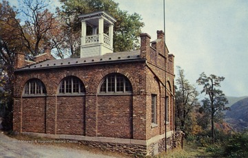 "Caption on back of postcard reads: ""Now located on the campus of Storer College, Harpers Ferry, West Virginia. John Brown and his followers captured this fire engine house at Harpers Ferry and defended it against the U.S. Army until captured by Col. Robert E. Lee on October 18, 1859."" Published by Kelley's Studio. (From postcard collection legacy system.) Since the time this caption was written the ""fort"" has been moved to the lower town, closer to it's original location."