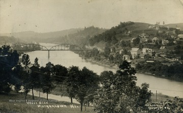 Monongahela River runs through the middle of the two sides. See original for correspondence. (From postcard collection legacy system.)