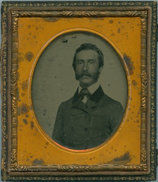 An ambrotype photograph of Morrison Foster, brother of reowned 19th century songwriter, Stephen C. Foster.