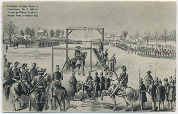 Execution took place on December 2, 1859. Published by W. L. Erwin. (From postcard collection legacy system--subject.)