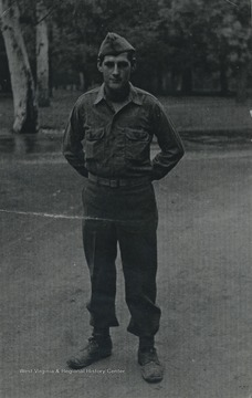 Portrait of Cook in uniform at Ft. Jackson, South Carolina.