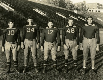 Print number 176a. (Players from left to right): John Phares, Paul Schimmel, Tony Forte, Milford Gibson, and J.B. Huyett.