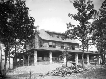 The Fox House, built circa 1912 by the Grange family, is now the clubhouse of the Foxburg Country Club.