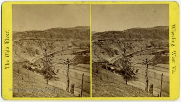 Construction on the National Road near the Ohio River.  Published and sold by E. L. Nicoll, under the McLure House.