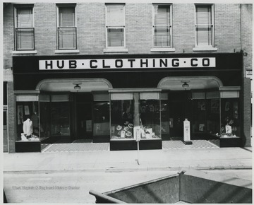Hinton's oldest store doing business under the same trade name. Noted as one of West Virginia's finest men's stores. In 1952, the HUB Clothing Co. opened its doors for business in a room on 3rd Avenue.