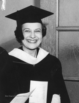 Helen Holt at her commencement at Fairmont College