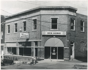 The building, pictured while housing Hinton Hardware, was built in 1920.