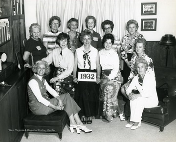 Helen Holt is in the back row, third from the left.