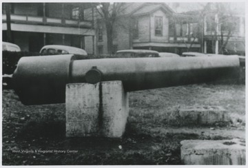 Claimed to weight 16,500 pounds, this cannon is an ancient piece of artillery donated by former Congressman Littlepage. The cannon was used during the Civil War in the southern states and was brought to Hinton from the state of Florida.