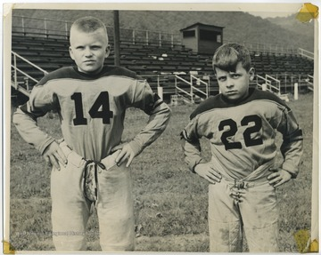 "David ""Shadow"" Willey, left, and Mule Bennett, right, pictured in front of the bleachers."