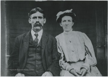 The two pictured on their wedding day.