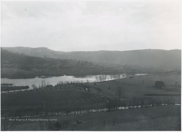 View of the water before becoming Bluestone Lake.