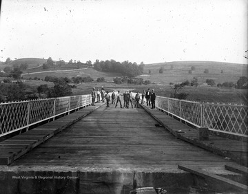 Possibly the bridge at the end of High Street, Morgantown, W. Va.