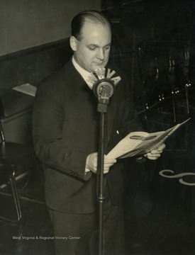 Walter Schane was the baritone voice of the Singing Millmen and also worked in the office of the Benwood Works. Like all who participated on the radio broadcast, you needed to be an employee or immediate family member of Wheeling Steel.