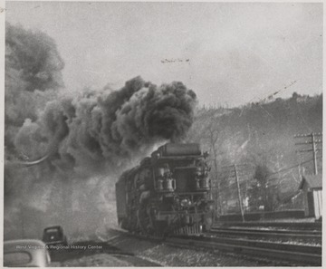 "Photo description reads, ""2-8-8-2 H-7 Mallet used on coal train between Hinton (Summers County, W. Va.) and Handley (Kanawha County, W. Va.), and between Hinton and Clifton Forge (Alleghany County, Va.) from 1924  until replace by the 2-66-6 H 8's during 1940."""