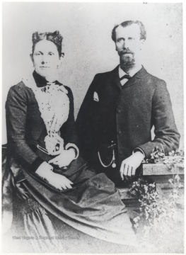 The legendary C. & O. engineer Richardson pictured with his wife.