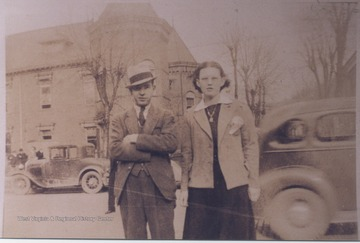 Lilly (left) and Dickison (right) are pictured in the courthouse parking lot.